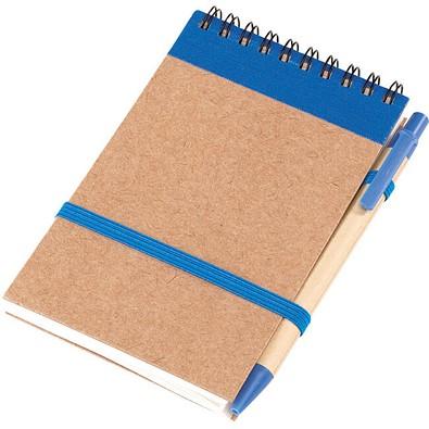 Notizringbuch Recycle, Natur/Blau