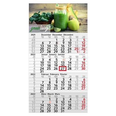 geiger notes 4-Monats-Wandkalender Recycling  2022