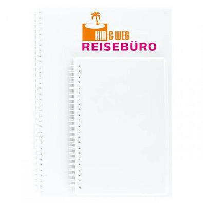 geiger notes Notizbuch Bizz-Book, DIN A4, kariert, weiß