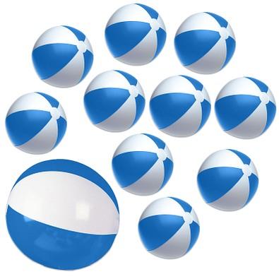 Werbe-Sparset Wasserball, 60-tlg., Blau, Inkl. Druck