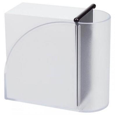 Zettelbox Pintu, Schwarz/Transparent