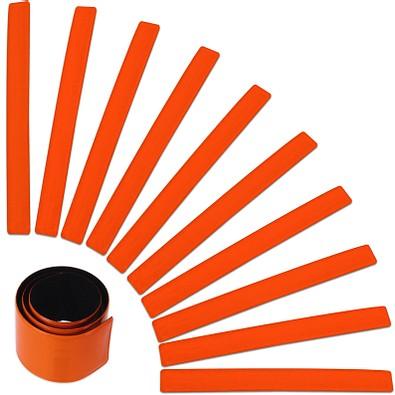 Werbe-Sparset Reflexband Snap, 60-tlg., Orange, Inkl. Druck