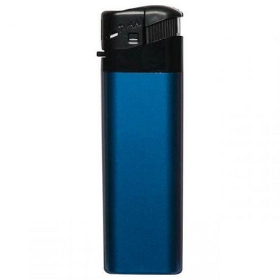 Piezo-Gasfeuerzeug Tokai, blau/metallic