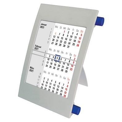 2-Jahres-Tischkalender 2021/2022, grau/blau