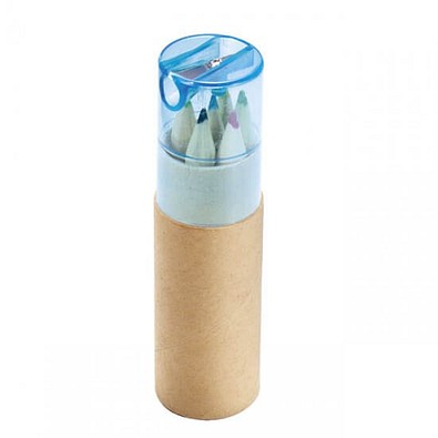 Buntstiftebox mit Spitzer, blau