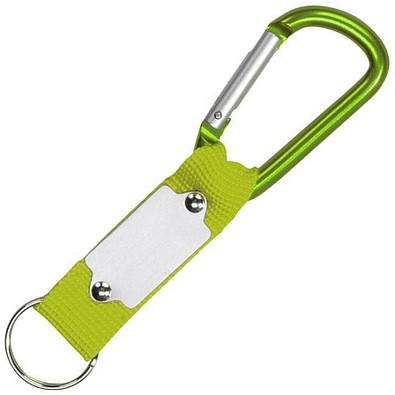 Schlüsselanhänger mit Karabiner, apfelgrün