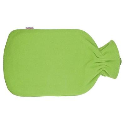 Wärmflasche mit Fleecebezug, Apfelgrün