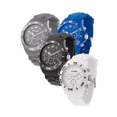Armbanduhr Style Chrono, grau