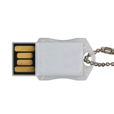 USB-Stick Transparent, 16 GB, weiß