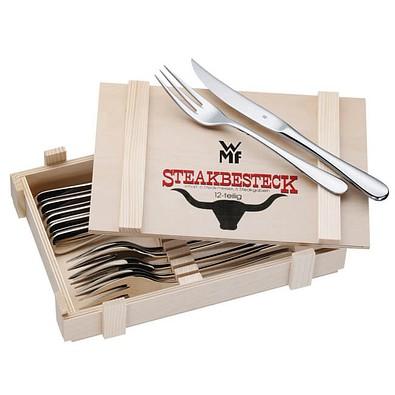 WMF Steakbesteck, 12-teilig, silber