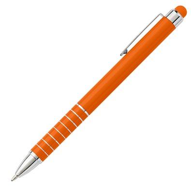Metall-Touch-Kugelschreiber Elegance, blaue Mine, orange