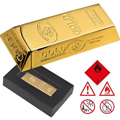 Automatik Feuerzeug Goldbarren, gold
