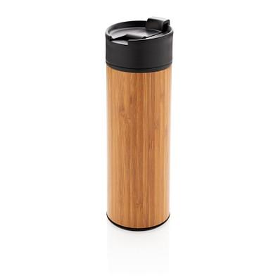 XD XCLUSIVE Vakuum Bambus Becher Bogota, 450 ml, braun