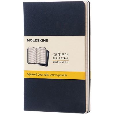 MOLESKINE® Notizbuch Cahier Journal Taschenformat, kariert, indigoblau