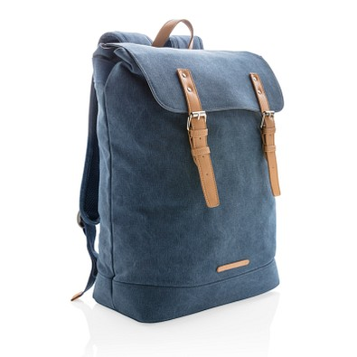 XD COLLECTION Laptop-Rucksack Canvas, PVC frei, dunkelblau