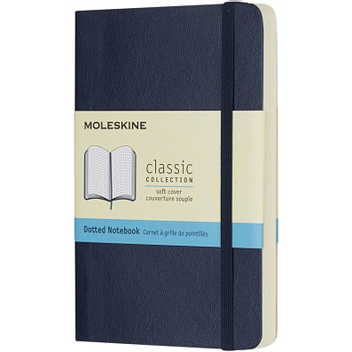 MOLESKINE® Notizbuch Classic Softcover Tachenformat, gepunktet, saphir