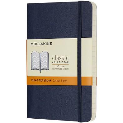 MOLESKINE® Notizbuch Classic Softcover Taschenformat, liniert, saphir