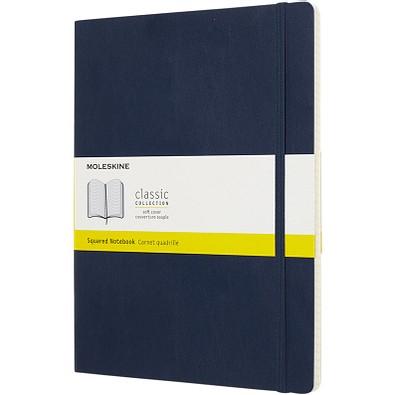 MOLESKINE® Notizbuch Classic Softcover XL, kariert, saphir