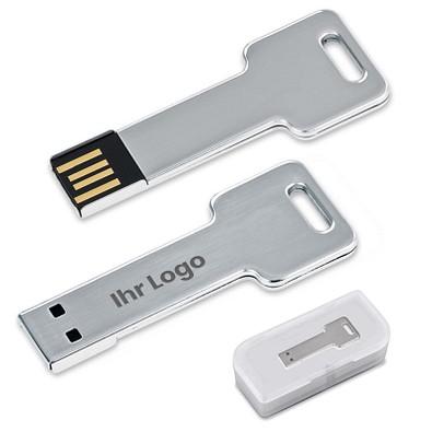 Edelstahl USB Stick Key, 16 GB, silber