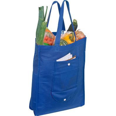 Einkaufstasche, zusammenfaltbar, blau