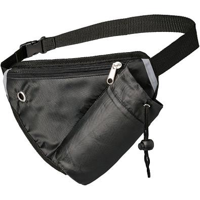 Erich Mehrzweck-Sporttasche mit Gürteltasche, schwarz