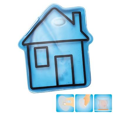 Gel-Wärmekissen Haus, blau