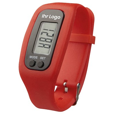Smartwatch & Pedometer Get Fit, rot