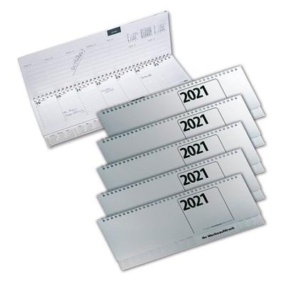Werbe-Set: 50 Tischkalender im Set, Silber, inkl. Druck