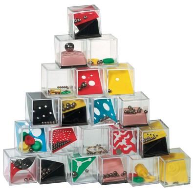 Mini-Geduldspiel-Set, 120-tlg, Bunt, Inkl. Druck