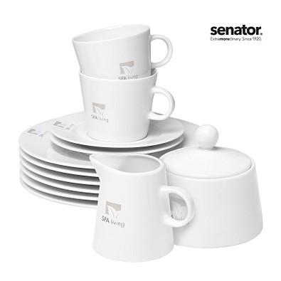 senator® Porzellanset Fancy Start-Up 74-teilig, weiß
