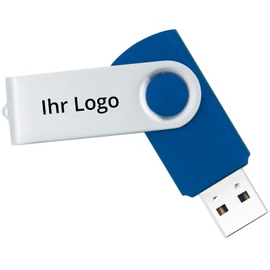 USB-Stick in Metallbox, 16 GB, blau