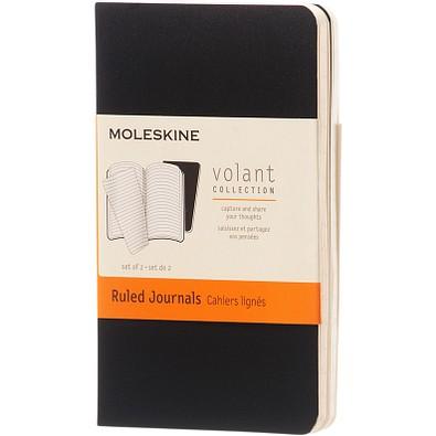 MOLESKINE® Notizbuch Volant Journal XS, liniert, schwarz