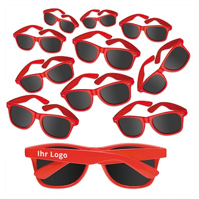 Werbe-Sparset Sonnenbrille Sunshine, 60-tlg., inkl. Druck, Rot