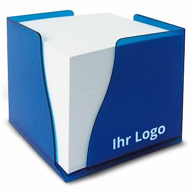 Zettelbox Curve, blau-gefrostet