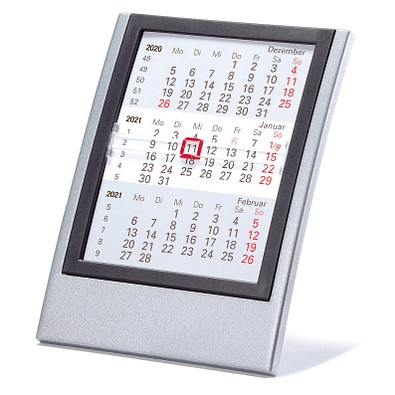2-Jahres-Kalender Small 2021/2022, silber/anthrazit